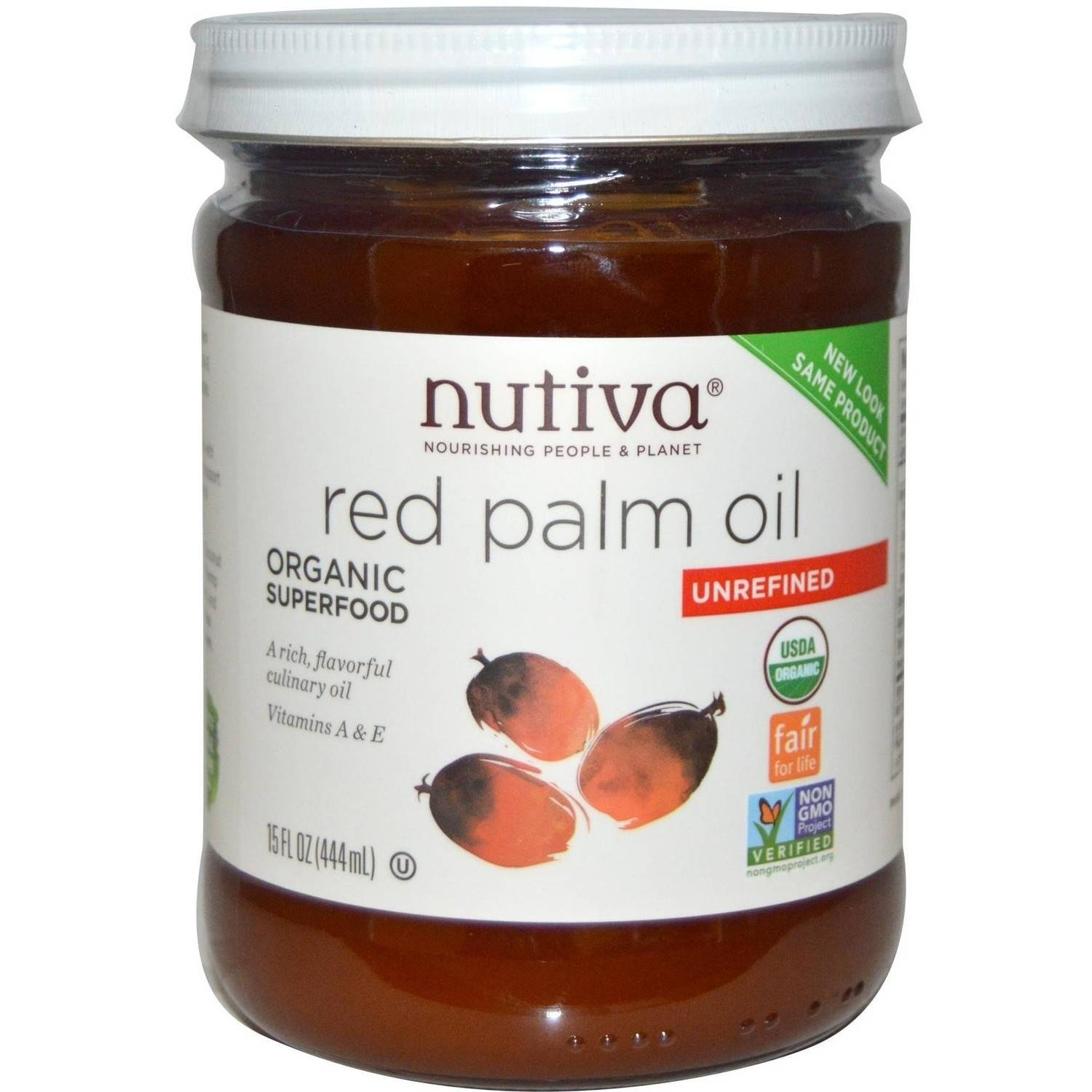 Nutiva Organic Red Palm Oil, 15 fl oz, (Pack of 3)