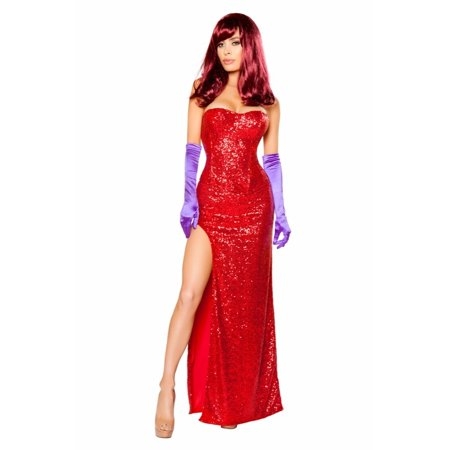 Dear Lover Halloween Costumes (Roma RM-10088 2pc Rabbits Lover Long Womens Dress Costume Small /)