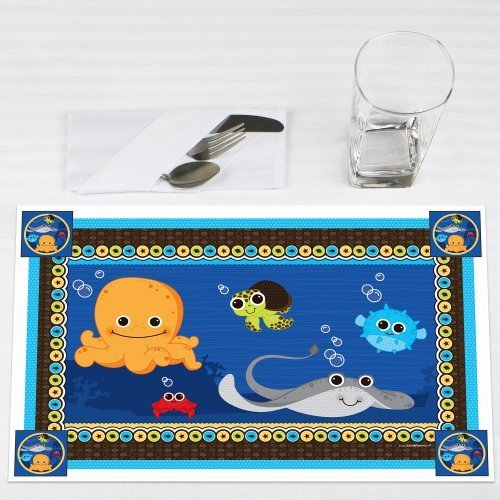 Under the Sea Critters Party Placemats Set of 12 by Big Dot of Happiness, LLC