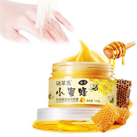 Yosoo Hand Wax Mask for Dry Hands Honey & Milk Hand Peeling Mask Hydrating Gloves Exfoliating Nourishing Soothing Whitening 4.23