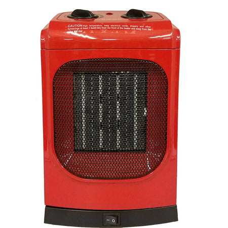 KUL 1500 Watt Red Ceramic Fan Heater - Model