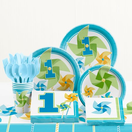 Turning One Boy 1st Birthday Party Supplies Kit