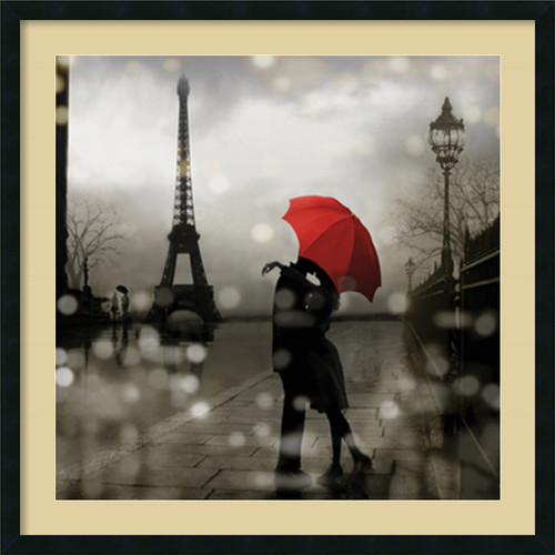 Amanti Art 'Paris Romance' by Kate Carrigan Framed Graphic Art by Amanti Art
