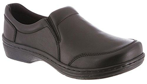 Klogs Arbor Men's Leather Professional Clog Black Smooth by Klogs Footwear