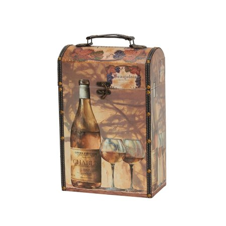 Household Essentials Decorative Double Wine Caddy, Gift Box Dcor