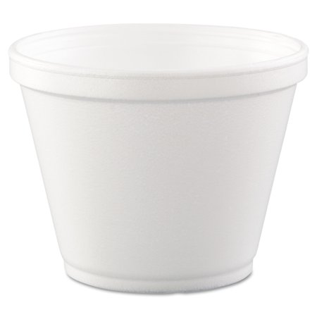 Dart Foam 12 Oz Food Containers, White, 25 count, (Pack of 20)