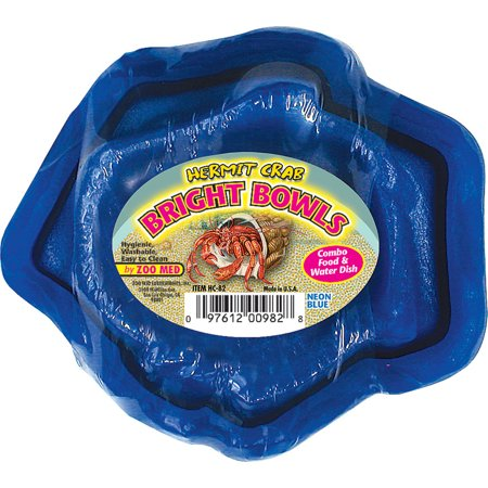Zoo Med Laboratories Inc-Hermit Crab Bright Bowls Water And Food Dish- (Blue Water Bowl)