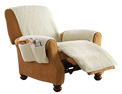 Collections Etc Protective Fleece Recliner Furniture Cover  sc 1 st  Walmart & Recliner Arm Covers islam-shia.org