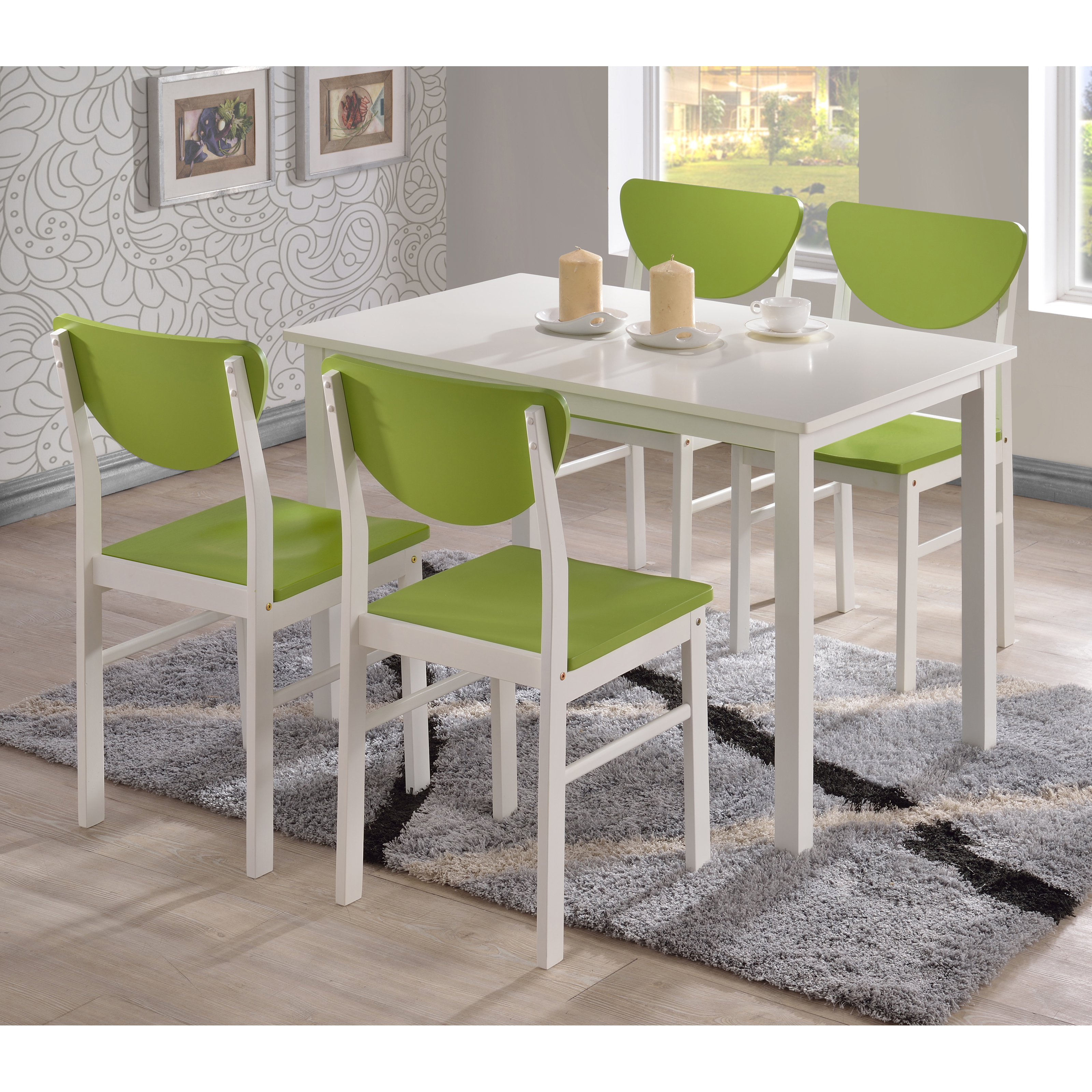 K & B Furniture Rutland Dining Table - White