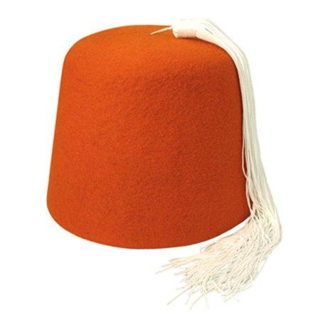 Village Hat Shop - Orange Fez with White Tassel - XXL - Orange White -  Walmart.com 8e89122af14