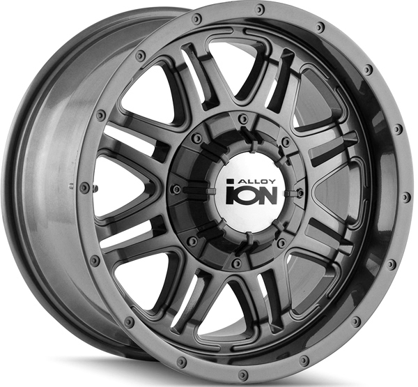 "18"" Inch Ion 186 18x9 6x135/6x139.7(6x5.5"") +18mm Gunmetal Wheel Rim"