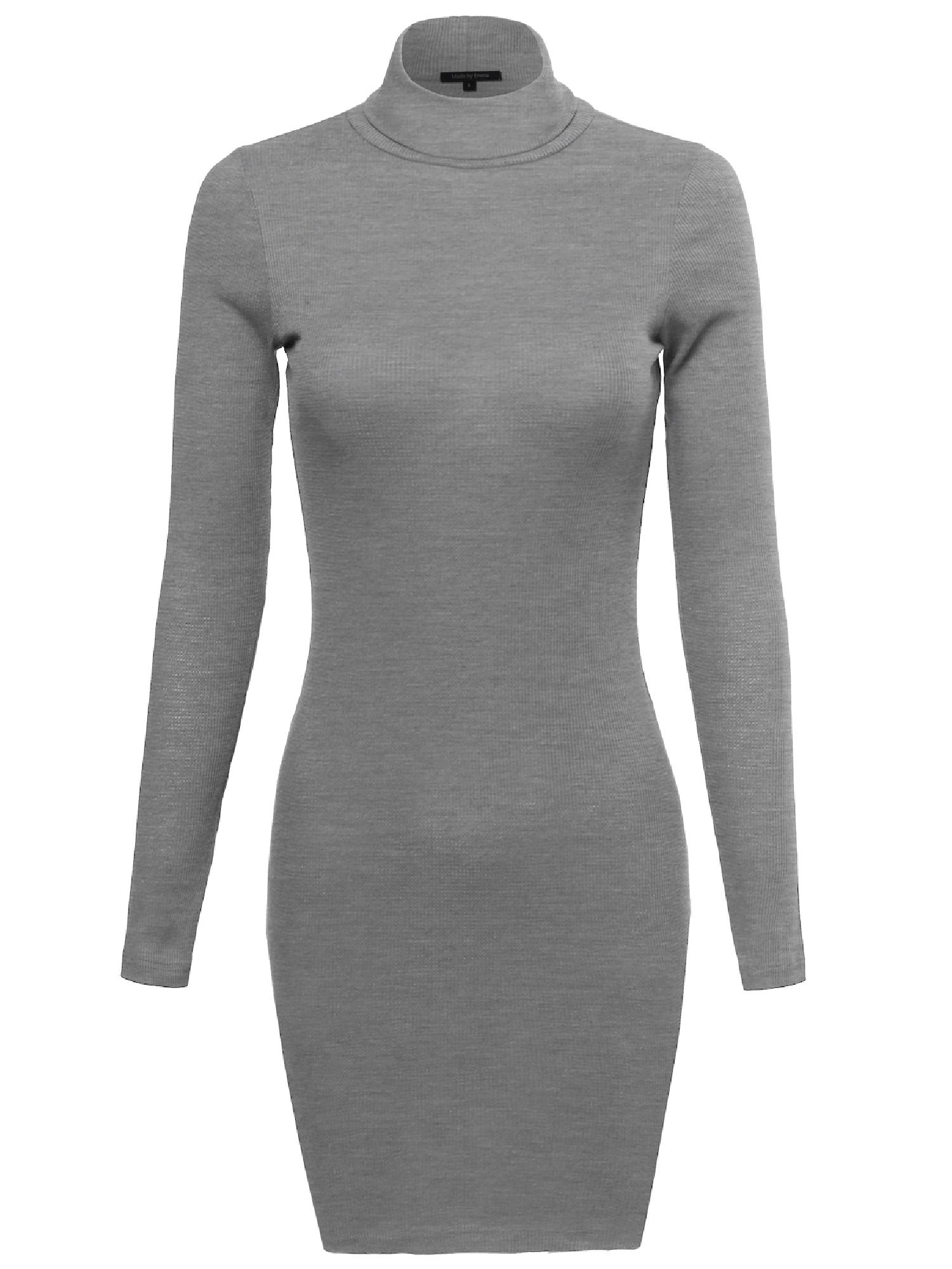 FashionOutfit Women's Basic Lightweight Thermal Turtleneck Top by