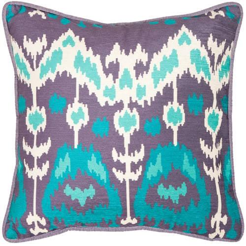 Safavieh Aqua/Cream Manhattan Pillow, Set of 2