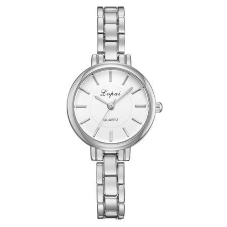 outdoorline Women Alloy Quartz Watch Girls Narrow Strap Clear Scale Round Pointers Dial Wristwatch Gift - image 1 de 5