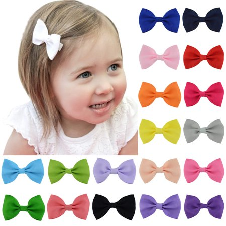 40PCS Hair Clips,Kapmore Ribbon Simple Bow Claw Clips Hair Barrettes for - Ribbon Barrette