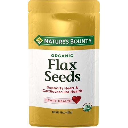 Nature's Bounty Organic Flax Seeds, 15 Oz.