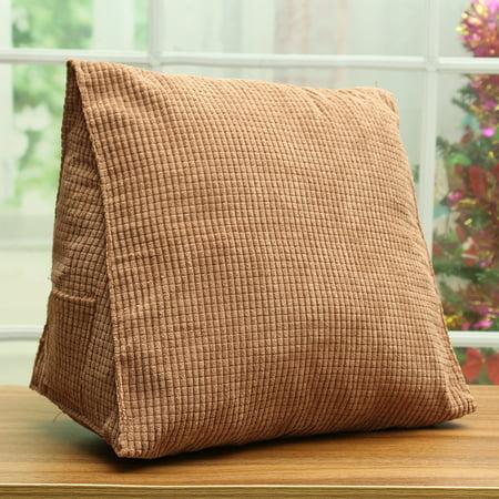 Triangle Soft Cotton Child Kids Backrest Pillow Cushion Car Seat Sofa Chair Waist Back Support
