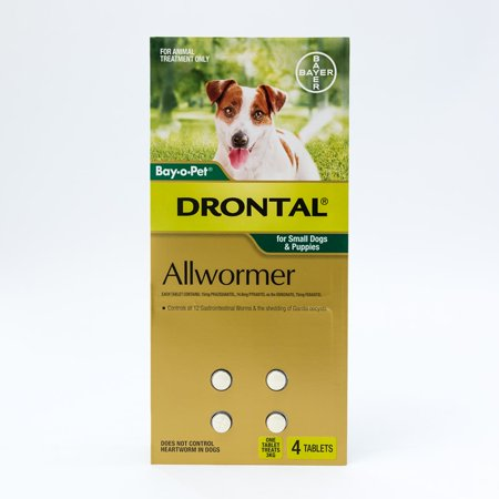 (Drontal Allwormer Tablets For Small Dogs & Puppies)