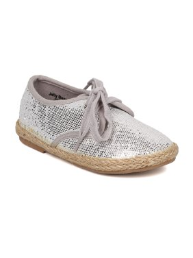 1e5b64d57 Product Image New Girl Jelly Beans Hemata Glitter PU Round Toe Lace Up  Espadrille Flat
