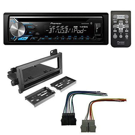 Pioneer Aftermarket Car Radio Stereo CD Player Dash Install Mounting Kit + Stereo Wire Harness for Select Dodge Eagle Plymouth Jeep Vehicles (Pioneer Cd Stereo)