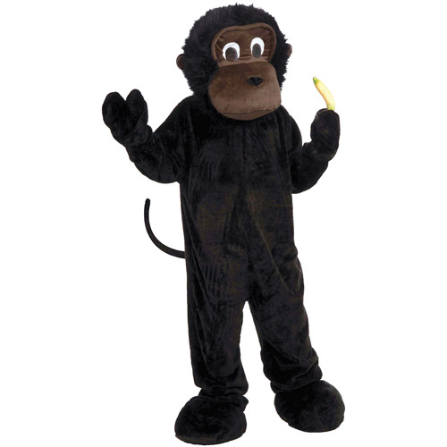 Monkey Mascot Adult Halloween Costume, Size: Men's - One Size