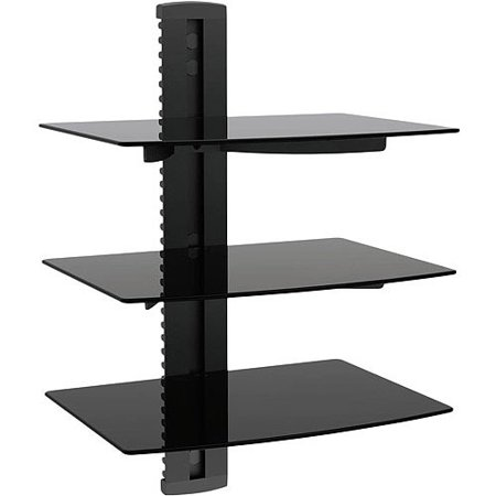 Ematic Adjustable 3-Shelf Universal DVD Player Wall Mount