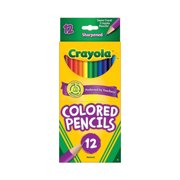 Crayola Colored Pencil Set, Assorted Colors, 12 Count, School Supplies, Beginner Child