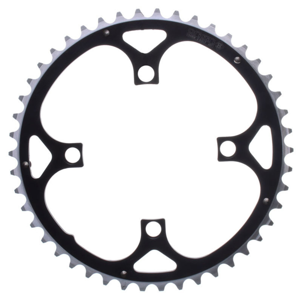 Origin8 Chainring 104mm 42T Ramped 4B Black/Silver