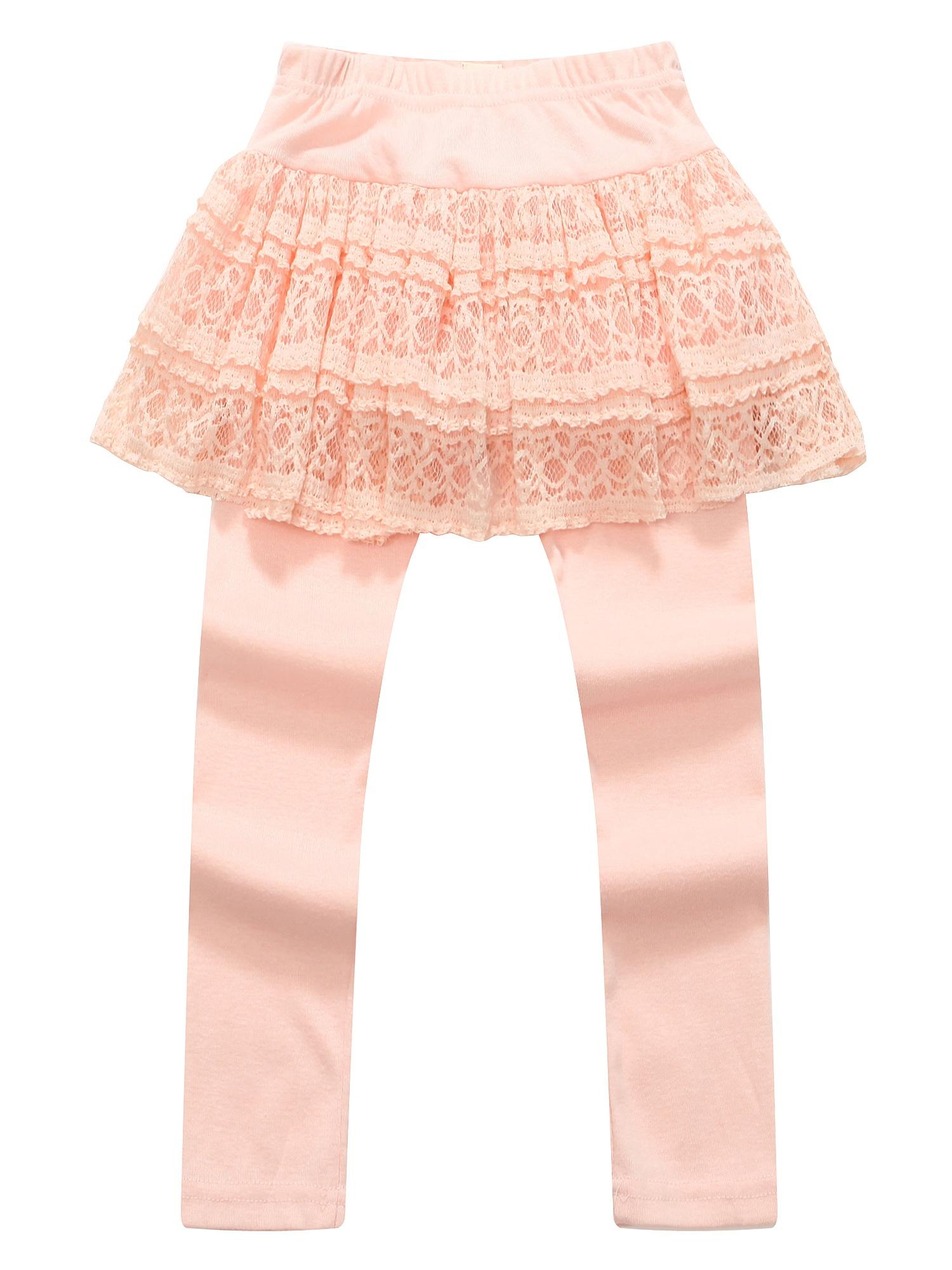 Richie House Girls' Leggings with Lace Tutu-style Skirt RH0882