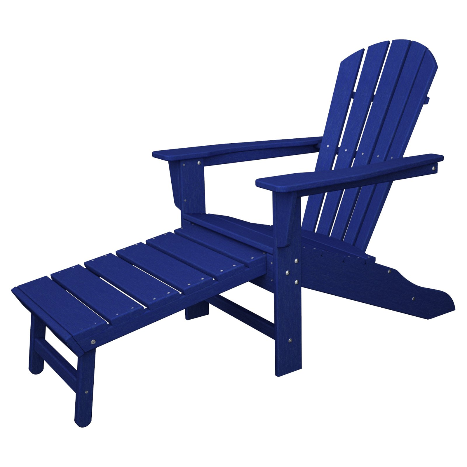 POLYWOOD South Beach Ultimate Adirondack Chair with Hideaway Ottoman by Polywood
