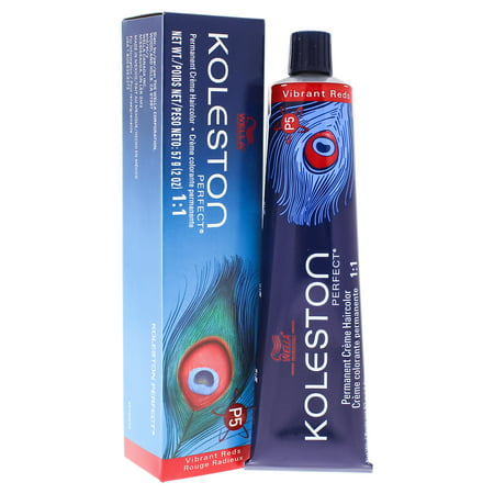 Koleston Perfect Permanent Creme Haircolor - 77 43 Intense Medium Blonde-Red Gold by Wella for Unisex - 2 oz Hair