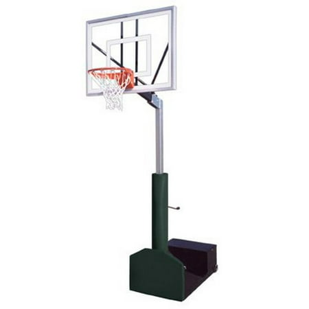 Navy Blue Team Ball - First Team Rampage Turbo Steel-Glass Portable Basketball System44; Navy Blue