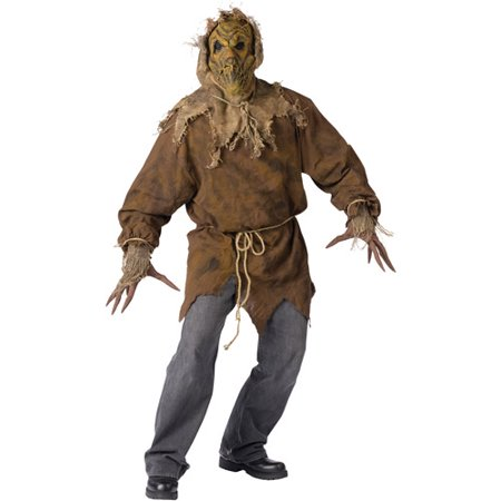 Evil Scarecrow Adult Halloween Costume, Size: Up to 200 lbs - One - Halloween Evil Bunny Makeup
