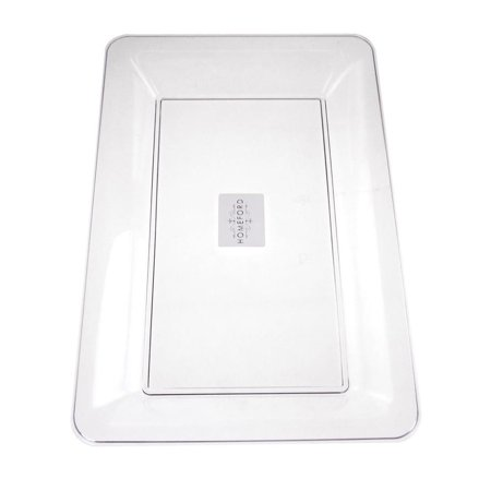 Clear Plastic Rectangle Serving Tray, 14-1/2-Inch (Clear Serving Tray)