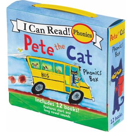 Pete The Cat Phonics Box  Includes 12 Mini Books Featuring Short And Long Vowel Sounds