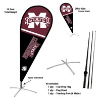 Mississippi State University Bulldogs Teardrop Flag Pole and Stand Kit