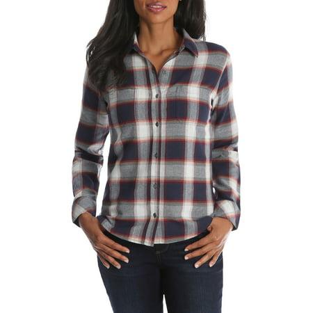Women's Long Sleeve Plaid Flannel -