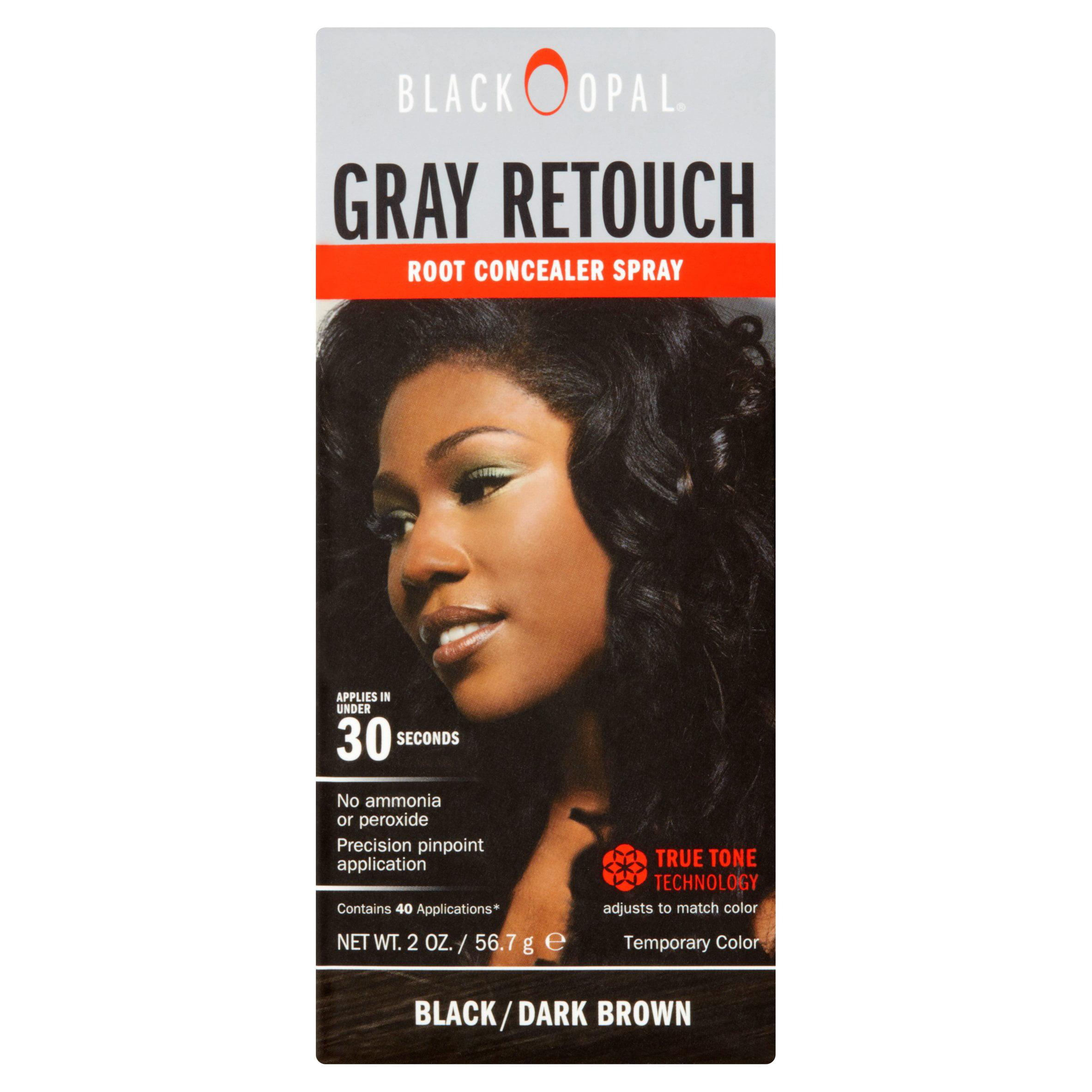 Black Opal Gray Retouch Root Concealer Spray Blackdark Brown 2 Oz