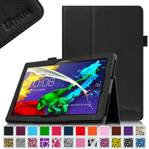 Fintie Folio Case for Lenovo Tab 3 10 Plus / Tab2 A10 / Tab 3 10 Business (TB3-X70F) 10.1-Inch Tablet, Black
