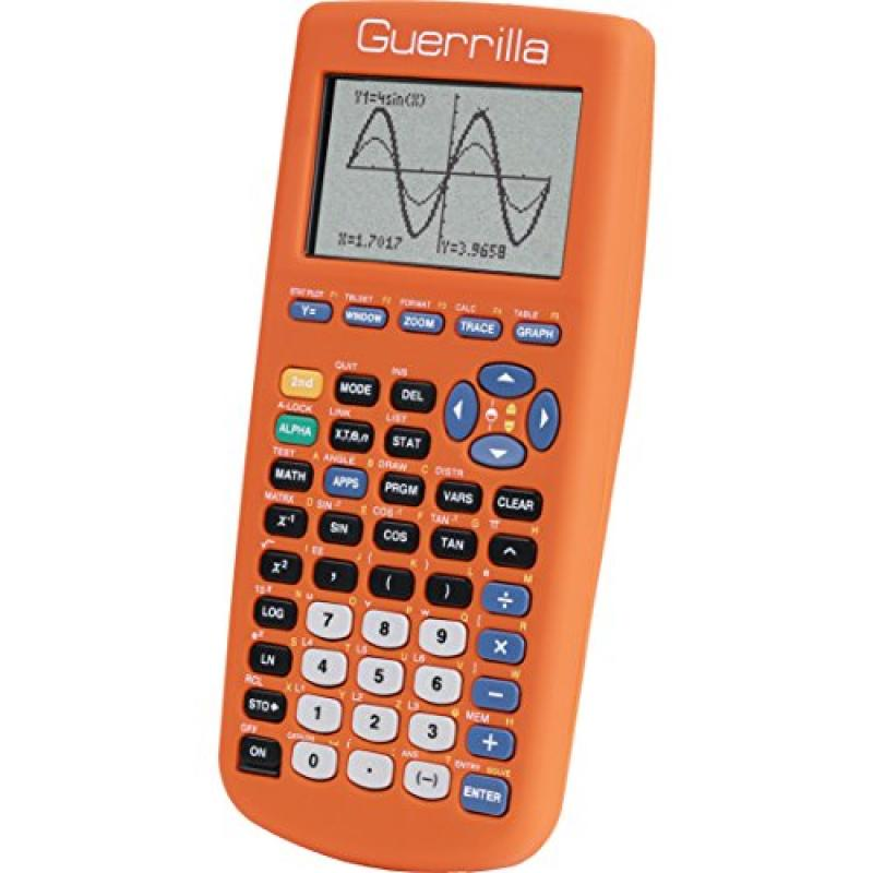 Guerrilla Silicone Case for Texas Instruments TI-83 Plus Graphing Calculator, Orange