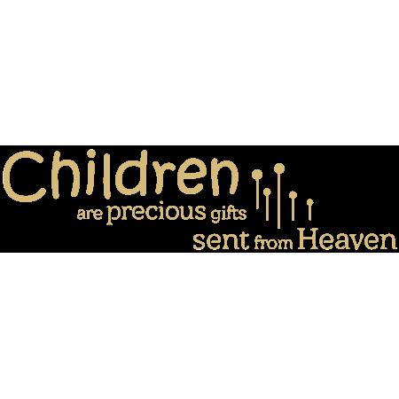 Children Are Precious Gifts Sent From Heaven Vinyl Decal Sticker Quote Medium Beige Walmart Com