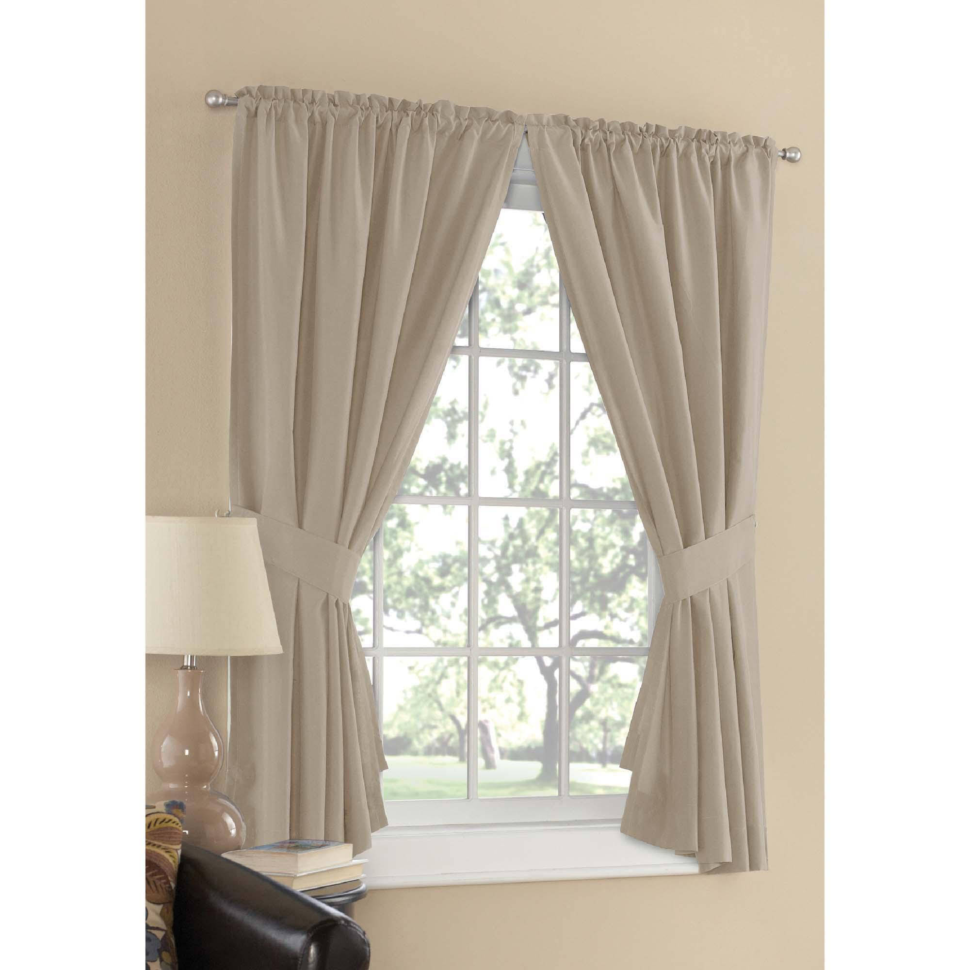 Mainstays Microfiber Window Curtain Collection