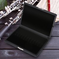 Fugacal Wooden + PU Leather Cover Reed Case Holder Storage Box for 10/12/20pcs Oboe Reeds,Reed Box, Oboe Reeds Case