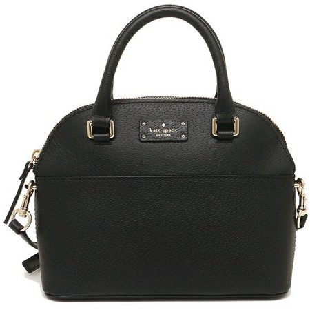 Kate Spade Black Leather (NEW KATE SPADE (WKRU4677) MINI CARLI GROVE STREET BLACK LEATHER SATCHEL HAND BAG)