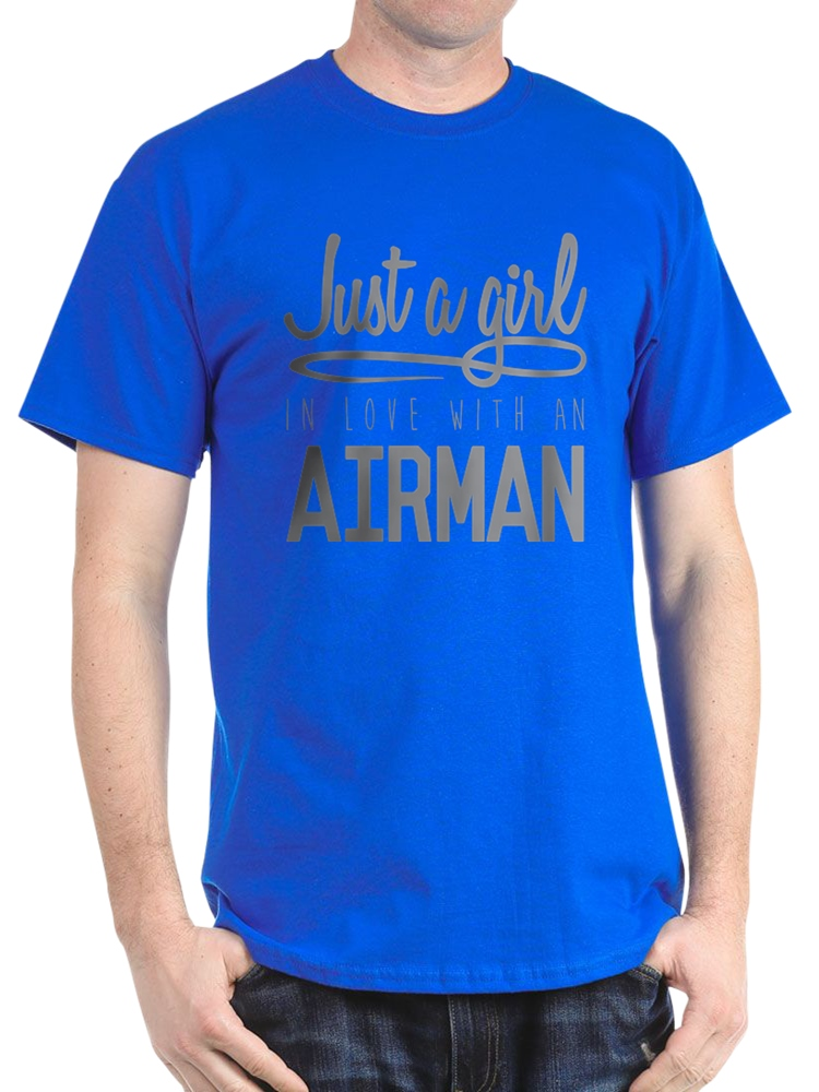 Girl In Love With An Airman - 100% Cotton T-Shirt