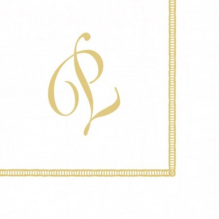 Monogrammed Cocktail Napkins - Monogram Initial P Paper Cocktail Napkins 20pk