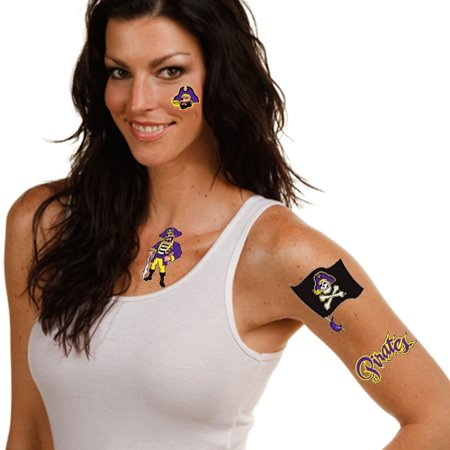 East Carolina Pirates WinCraft Multi-Pack Temporary Tattoos - No Size
