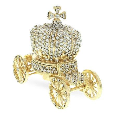 Crystal Coach Crown Russian Trinket Jewelry Box