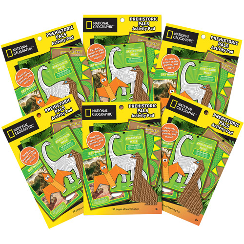 National Geographic Craftivity Dinosaurs Activity Pad Value Pack, 6pk