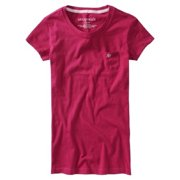 Aeropostale Juniors Solid A87 Pocket Basic T-Shirt